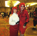 Madam Red and Grell A-kon 22 by clockworkcosplay