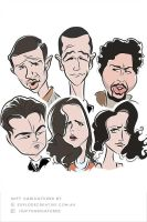 Inception Caricatures by explodecreative