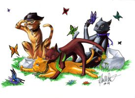 Kittens and Butterflies by Isadora-Legata