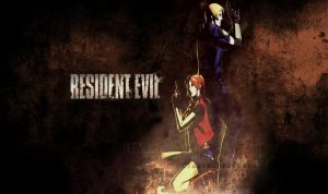 Leon and Claire wallpaper by ~Vicky-Redfield by Nightphoenix2