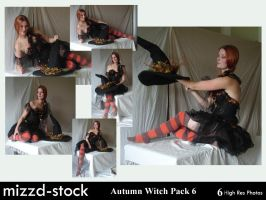 Autumn Witch Pack 6 by mizzd-stock