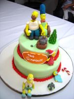Simpsons cake by RodrigoSNA