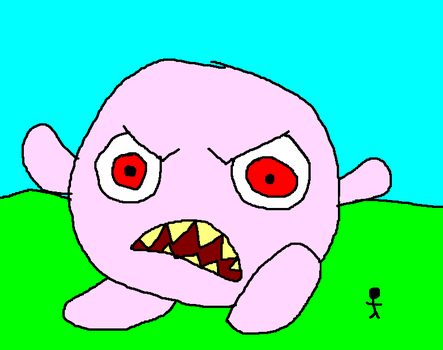 Giant Angry Jigglypuff Attacks by dudeyman