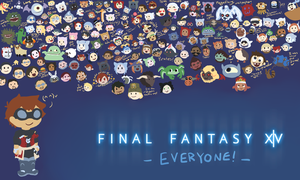 Final Fantasy XIV: EVERYONE by VergilRenata