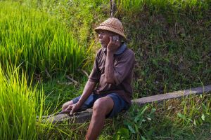 Old Balinese man near Ubud (Bali) by AnneCHPostma