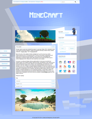 [SALE] BluishCraft - A Minecraft Template! by nubpro