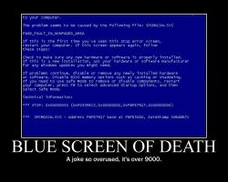 Demotivator - The BSOD by BloodSonic1