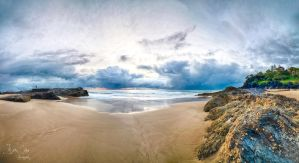 Froggies Beach Sunrise Storm by jaydoncabe