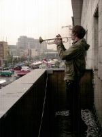 The balcony trumpet player by JonazH10