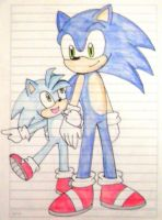 sonic y monty by kary22