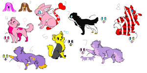 Free Leftover Adoptables (CLOSEd) by DetritusDroid