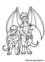 Nighte and Shalance Gargoyles by nighte-studios