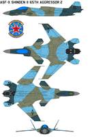 ASF-X Shinden II 65th Aggressor Squadron 2 by bagera3005