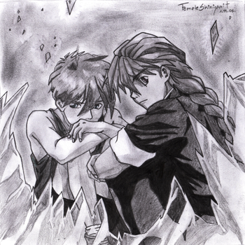 Shattered Glass Duo+Heero by Duo-Maxwell-Club