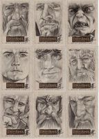 Lord of the Rings Sketch Cards by prmedia