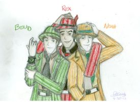 For Elecktrum: Ben10, Rex, Noah and Zoot Suits by deserthaze