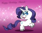 Rarity wish you a Happy Birthday! by Cookie-Lovey