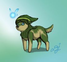 Wolf Link and Navi by LoveBobu