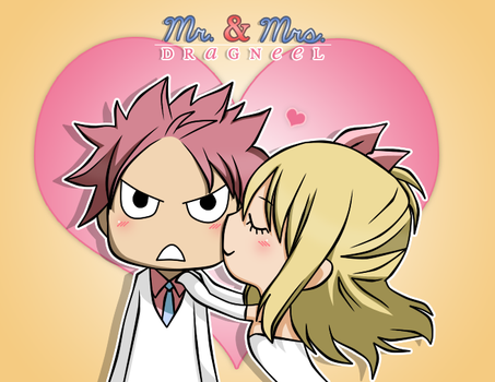 Wedding - Mr. and  Mrs. Dragneel (Chibi) by TwilHina