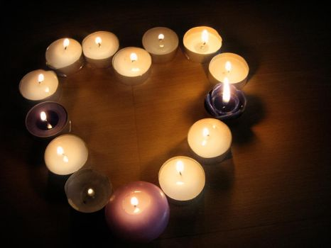 Heart Candles by arwenv