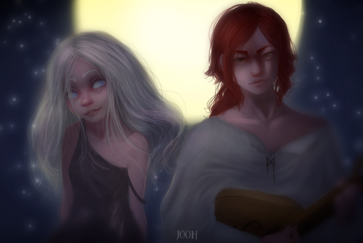 Auri and Kvothe - The name of the wind by Jooh-fu
