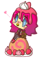 V-day 1: Strawberry Bird Roll by Crystal-Moore