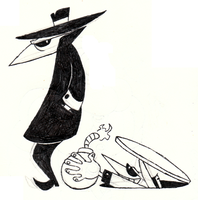 Spy vs. Spy Doodle by FractiousLemon