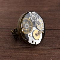 steampunk ring by nestre-jewellery