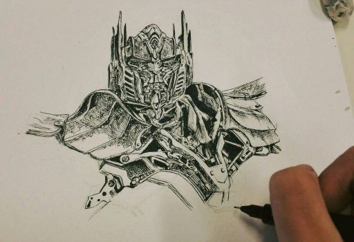 optimus the last knight by PrimeCullen