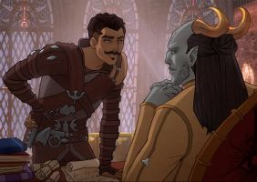 DAI Adaar and Dorian - Distraction by Anhel1310