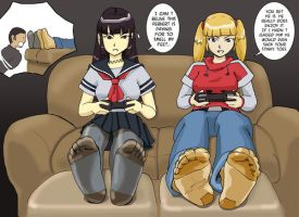 Penny and Atsukos Game by sl44n3sh