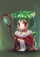 Kitty Mage by wangqr