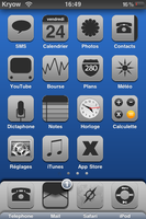 Theme Blue-Touch pour iPhone by Kryow-Studio