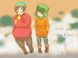 SP Kyle and Cartman by shibababa
