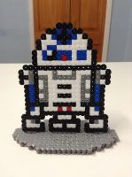 Star Wars: R2-D2- Hama Bead Stand by Dogtorwho