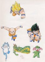 Dragon Ball Characters by CaperGirl