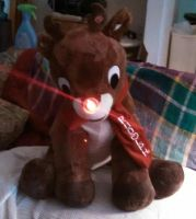 Rudolph 50th anniversary plush! by Devilgirl007