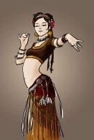 tribal belly dancer by Fairlen