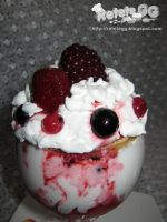 Whipped cream and berries dessert by DanutzaP