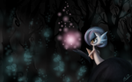 Searching through the darkness by BluHiroo