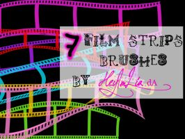 7 Film Strips Brushes by HeyImLia