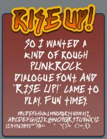Rise Up font by shonenpunk