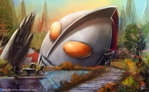 My Ultraman Dream house by 2d-artist