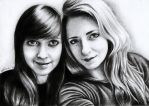 Me and my friend :3 by luzarra