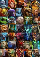 Dota 2 Collage (iPod Wallpaper) 2 by roez497