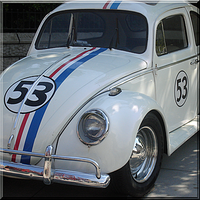Herbie the Love Bug QuiltPiece by WDWParksGal