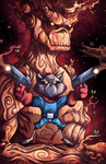 Rocket Raccoon and Groot      totsmygoats by JordanMichaelJohnson