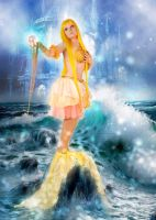 Coco yellow mermaid princess by Lilian-hime
