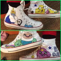 Adventure Time Converses by FunkBlast