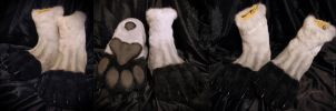 Plantigrade feetpaws for Haku fullsuit by SnowVolkolak